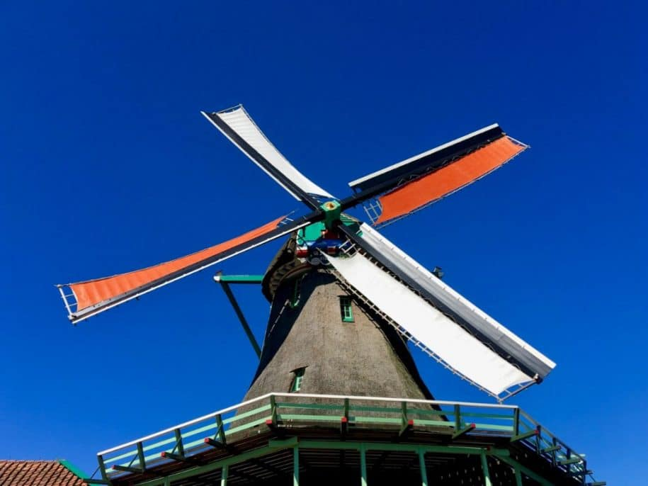 Zaanse schans windmills Amsterdam