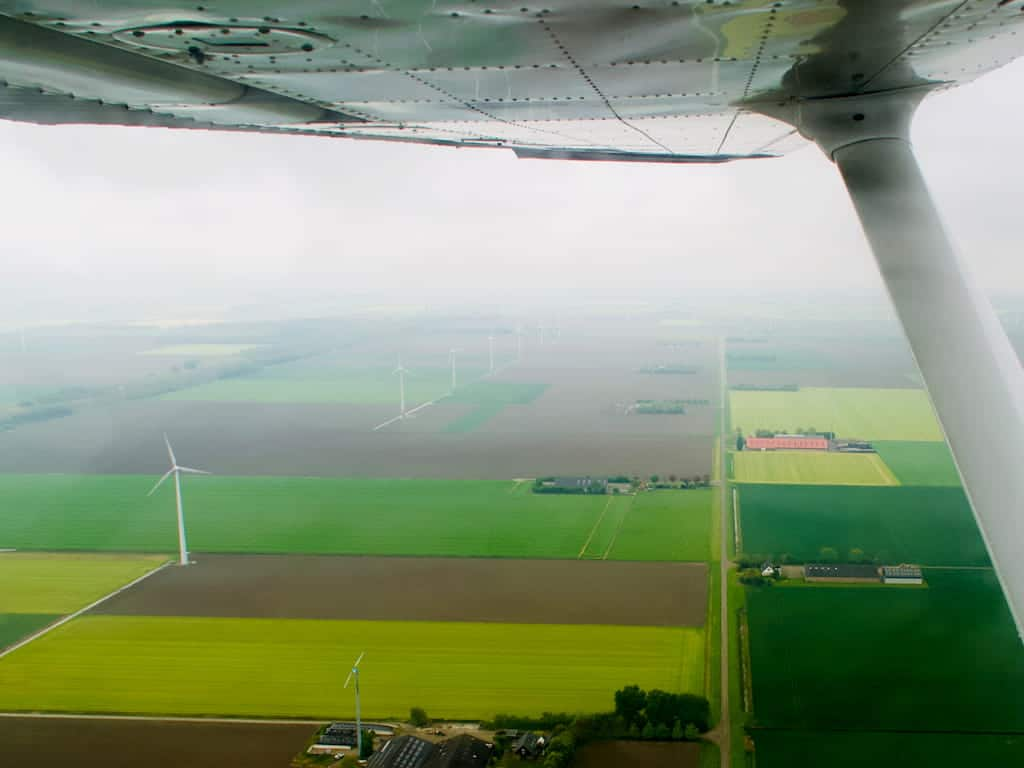 Flevoland from a light airplane